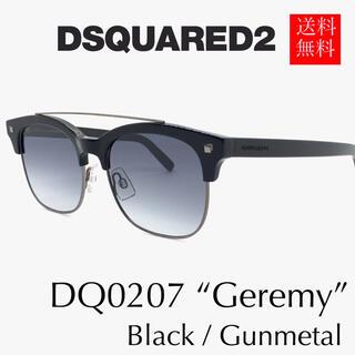 ディースクエアード(DSQUARED2)の【新品】DSQUARED2 ディースク サングラス ダブルブリッジ 黒 グラデ(サングラス/メガネ)