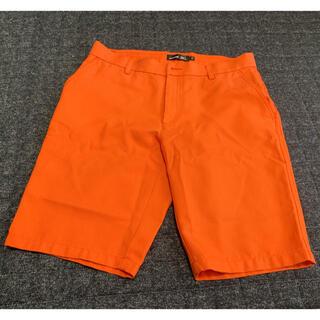 ミズノ(MIZUNO)のミズノ男性ゴルフウェア オレンジハーフパンツサイズ34(ウエア)