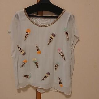 グレースコンチネンタル(GRACE CONTINENTAL)のグレースクラス アイスビジュートップス(Tシャツ(半袖/袖なし))