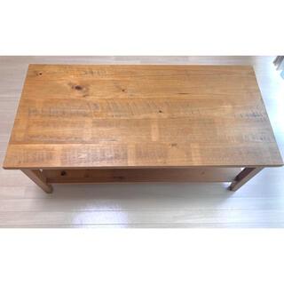 ニトリ(ニトリ)のニトリ 幅120cm センターテーブル(カーシー120LBR) 天然木(パイン)(ローテーブル)