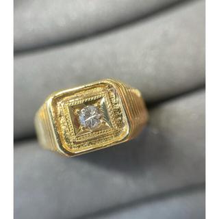 メンズ ダイヤモンドリング k18 値下げ!(リング(指輪))
