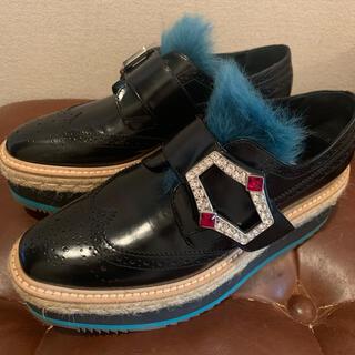 プラダ(PRADA)のベア様専用 プラダ ウィングチップ 正規品(ローファー/革靴)