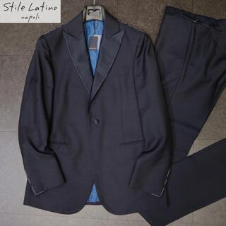 ブルネロクチネリ(BRUNELLO CUCINELLI)のスティレラティーノ 33万新品super'120ウールネイビータキシードスーツ(テーラードジャケット)