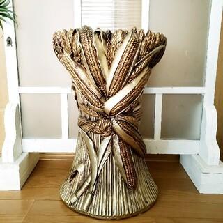 イタリア製 ロココ調 陶器 アンティーク ゴールド 傘立て(花瓶)