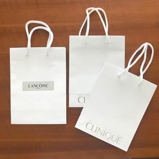 CLINIQUE - CLINIQUE・LANCOME ショッパー3枚セット ホワイト