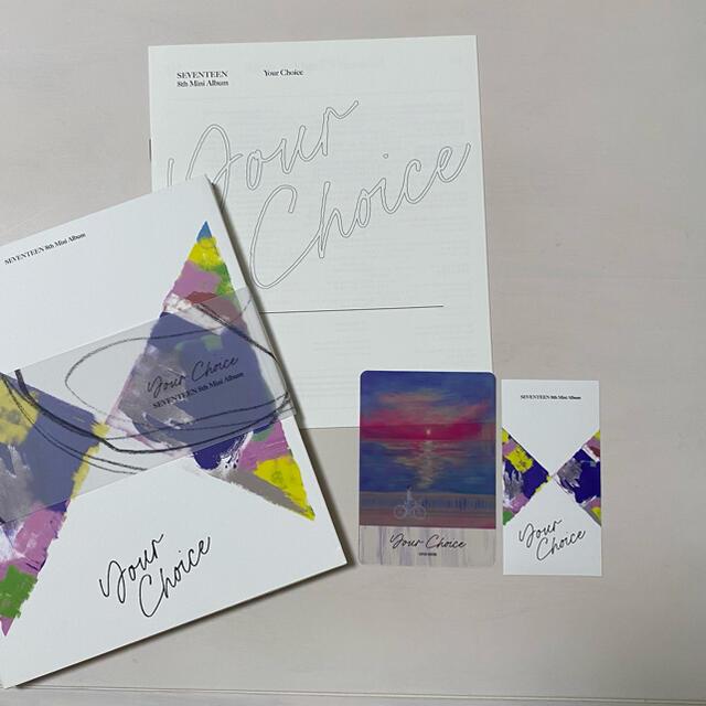 SEVENTEEN(セブンティーン)のYour Choice One side ver. パフォチ フォトブック エンタメ/ホビーのCD(K-POP/アジア)の商品写真