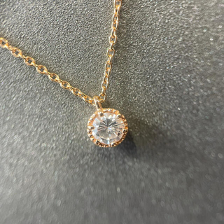 ダイヤモンド ネックレス k18pg(ネックレス)