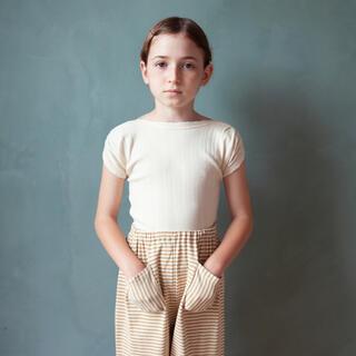 キャラメルベビー&チャイルド(Caramel baby&child )のsoor ploom Sundae Tee, Natural Pointelle(Tシャツ/カットソー)
