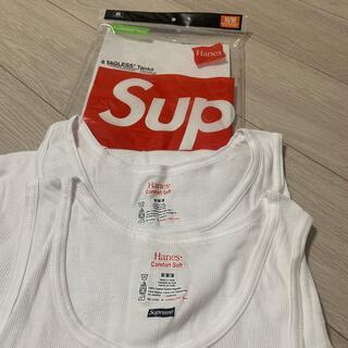 シュプリーム(Supreme)のSupreme x Hanes タンクトップ Mサイズ 白 2枚セット(タンクトップ)