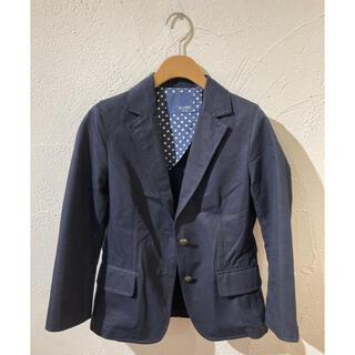 イエナスローブ(IENA SLOBE)のSLOBE IENA 七分袖 紺ブレ ジャケット(テーラードジャケット)