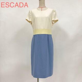 エスカーダ(ESCADA)のESCADA エスカーダ ウエスト切替 膝丈ワンピース 1601(ひざ丈ワンピース)