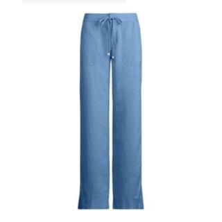 ラルフローレン(Ralph Lauren)のタグ付❣未使用❣麻100%ワイドパンツ❣LAUREN RALPH LAUREN(カジュアルパンツ)