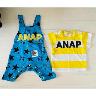 アナップキッズ(ANAP Kids)のTシャツ&ロンパースセット(ロンパース)