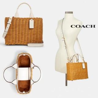 コーチ(COACH)の【COACH】Wicker Carryall(かごバッグ/ストローバッグ)