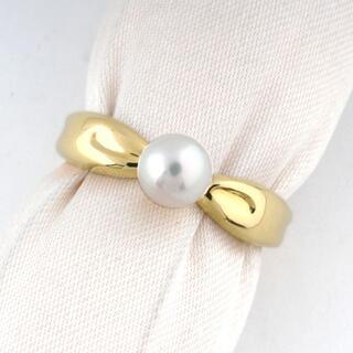 タサキ(TASAKI)の【美品】タサキ TASAKI パール リング K18 指輪 (N03051)(リング(指輪))