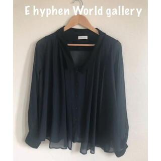 イーハイフンワールドギャラリー(E hyphen world gallery)の【E hyphen World gallery】シフォンブラウス(シャツ/ブラウス(長袖/七分))