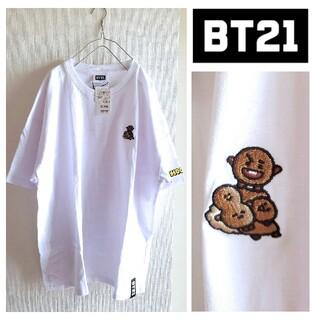 ボウダンショウネンダン(防弾少年団(BTS))のBTS/BT21 未使用 ポイント刺繍Tシャツ SHOOKY SUGA ユンギ(Tシャツ(半袖/袖なし))