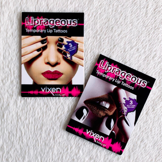Liprageous ♥Lip Tattoos♥ピンク𝑎𝑛𝑑ゴールド