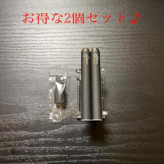 プルームテック(PloomTECH)のP2201番プルームテック 純正 バッテリー2本おまけマウスピース付きブラック(タバコグッズ)