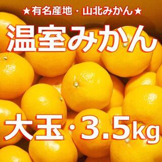 【送料無料】 #温室みかん 3.5キロ【超大玉】 冷やし冷凍ミカン #山北みかん(フルーツ)
