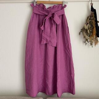 バナーバレット(Banner Barrett)のバナーバレット♡リネンスカート(ひざ丈スカート)