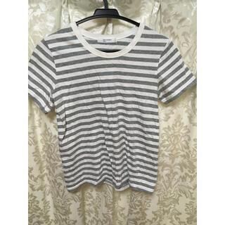 バックナンバー(BACK NUMBER)のボーダー Tシャツ ライトオン 綿 ライトグレー BACK NUMBER(Tシャツ(半袖/袖なし))