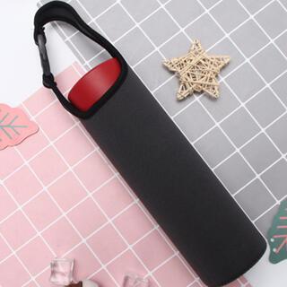 ☆水筒カバー(〜600ml) 手提げ 水筒ケース グレー ブラック 洗い替え用(水筒)
