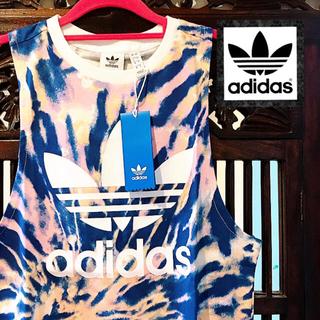 adidas - アディダス 新品 ダイダイ タンクトップ Tシャツ ジャージ ピンク 青 ドレス