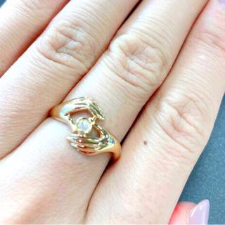 k18 ダイヤモンドリング ハンドモチーフ(リング(指輪))