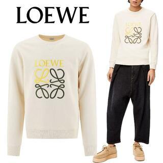 LOEWE - 4 LOEWE ロゴ刺繍 スウェット トレーナー ホワイト size M