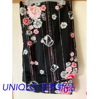 ユニクロ(UNIQLO)のフリーサイズ 未使用 UNIQLO浴衣 黒地(浴衣)