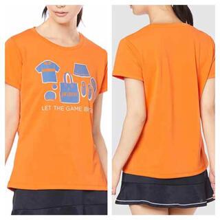 プリンス(Prince)のプリンス テニスシャツ オレンジ M(ウェア)
