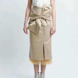 アメリヴィンテージ(Ameri VINTAGE)のaddress ribbontulleスカート(ひざ丈スカート)