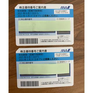 エーエヌエー(ゼンニッポンクウユ)(ANA(全日本空輸))の✈️ ANA株主優待券(2枚)✈️(航空券)