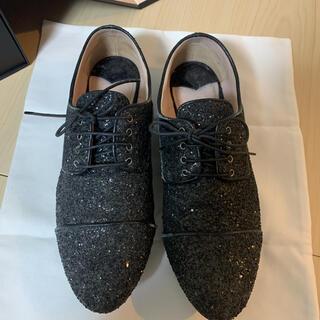ミュウミュウ(miumiu)のMiu Miu グリッターローファー(ローファー/革靴)