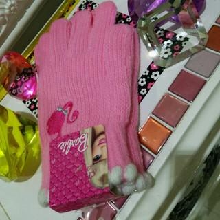 バービー(Barbie)の☆新品未使用❤バービー❤の可愛い手袋です❗(手袋)