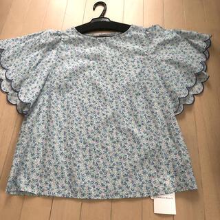 クチュールブローチ(Couture Brooch)の未使用♡花柄半袖ブラウス♡クチュールブローチ(カットソー(半袖/袖なし))