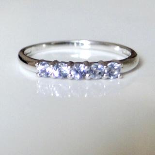 ジュエリーツツミ(JEWELRY TSUTSUMI)の美品✨指輪 10K  ホワイトゴールド タンザナイト #5  ジュエリーツツミ(リング(指輪))