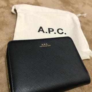 アーペーセー(A.P.C)のA.P.C. ブラック Emmanuelle ウォレット 二つ折り財布(財布)