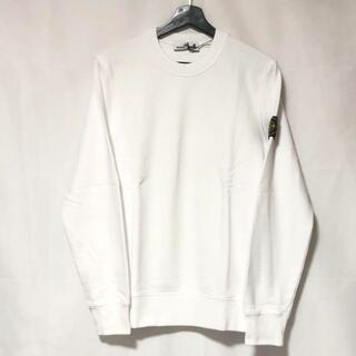 STONE ISLAND - STONE ISLAND ロゴ スウェットシャツ ホワイト XLサイズ