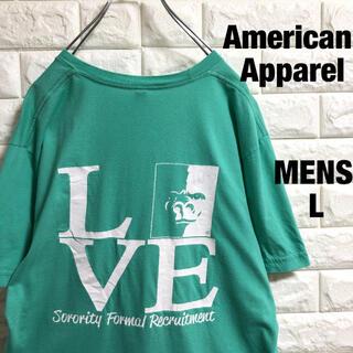 アメリカンアパレル(American Apparel)のアメリカンアパレル ゴリラ アニマルプリント Tシャツ メンズLサイズ(Tシャツ/カットソー(半袖/袖なし))