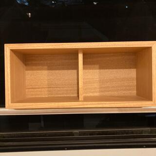 ムジルシリョウヒン(MUJI (無印良品))の無印良品 壁に付けられる家具箱 オーク材突板 44cm(棚/ラック/タンス)