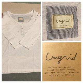 アングリッド(Ungrid)のアングリッド/ヘンリーネックT/美品(Tシャツ/カットソー(七分/長袖))