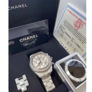シャネル(CHANEL)のCHANEL j12 h2009 シャネル ダイヤベゼル クロノグラフ(腕時計(アナログ))