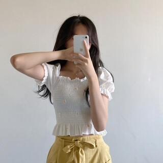 ゴゴシング(GOGOSING)の韓国 ブラウス(Tシャツ(半袖/袖なし))