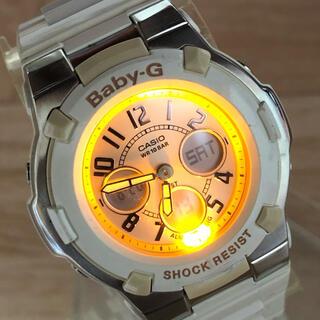 ベビージー(Baby-G)のCASIO G-SHOCK baby-G 人気のホワイト ローズピンクダイアル♪(腕時計)