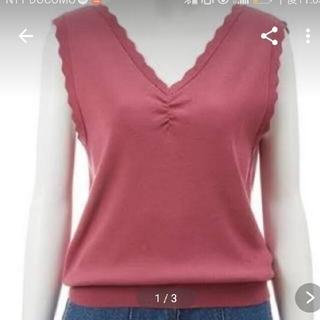 ココディール(COCO DEAL)のローズピンク色 美品、ほぼ着てません(カットソー(半袖/袖なし))