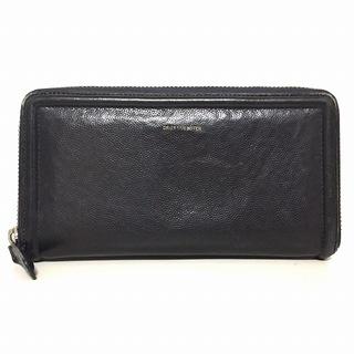 ドリスヴァンノッテン(DRIES VAN NOTEN)のドリスヴァンノッテン 長財布 - 黒 レザー(財布)