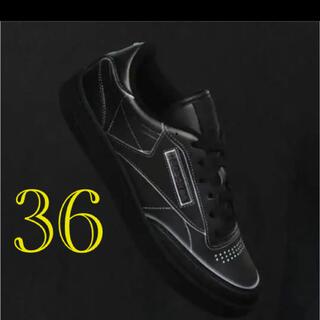 マルタンマルジェラ(Maison Martin Margiela)のマルジェラ✖️リーボック ブラック  36(スニーカー)
