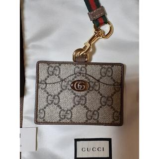 グッチ(Gucci)のGUCCI グッチ ネックストラップ付きカードケース(名刺入れ/定期入れ)
